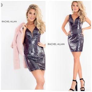 Rachel Allan short homecoming dress Color|Gunmetal